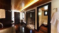 swanky bathroom in Saint Barth Villa Silver Rainbow luxury holiday home, vacation rental