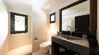 clean toilet and bath in Saint Barth Villa Silver Rainbow luxury holiday home, vacation rental