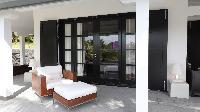 cool patio of Saint Barth Villa Silver Rainbow luxury holiday home, vacation rental
