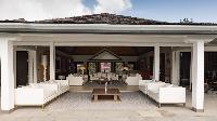 cool lanai of Saint Barth Villa Silver Rainbow luxury holiday home, vacation rental