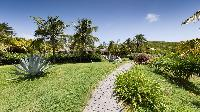 lovely garden of Saint Barth Villa Silver Rainbow luxury holiday home, vacation rental
