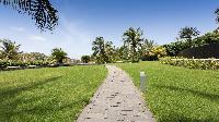 lush garden of Saint Barth Villa Silver Rainbow luxury holiday home, vacation rental