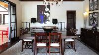 awesome dining room of Saint Barth Villa Silver Rainbow luxury holiday home, vacation rental