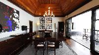 amazing dining room of Saint Barth Villa Silver Rainbow luxury holiday home, vacation rental