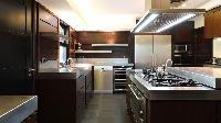 modern kitchen of Saint Barth Villa Silver Rainbow luxury holiday home, vacation rental