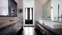 swanky bathroom in Saint Barth Luxury Villa Eternity holiday home, vacation rental