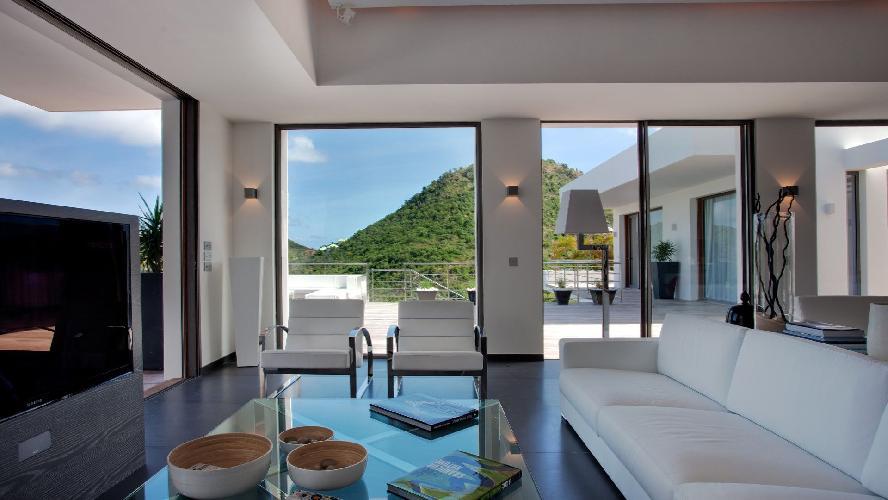 delightful sitting room of Saint Barth Luxury Villa Eternity holiday home, vacation rental