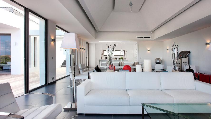 delightful living room of Saint Barth Luxury Villa Eternity holiday home, vacation rental