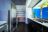 modern kitchen appliances in Saint Barth Villa Nirvana holiday home, luxury vacation rental
