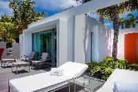 cool sun loungers at Saint Barth Villa Nirvana holiday home, luxury vacation rental