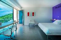 delightful bedroom in Saint Barth Villa Nirvana holiday home, luxury vacation rental
