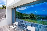 cool glass wall of Saint Barth Villa Nirvana holiday home, luxury vacation rental
