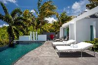cool poolside of Saint Barth Villa Nirvana holiday home, luxury vacation rental