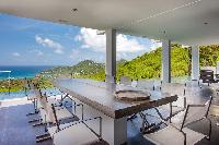 cool terrace of Saint Barth Villa Nirvana holiday home, luxury vacation rental