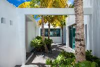 cool courtyard of Saint Barth Villa Nirvana holiday home, luxury vacation rental