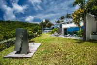 lovely garden of Saint Barth Villa Nirvana holiday home, luxury vacation rental