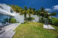 cool lawn of Saint Barth Villa Nirvana holiday home, luxury vacation rental