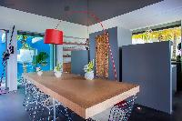 delightful kitchen in Saint Barth Villa Nirvana holiday home, luxury vacation rental