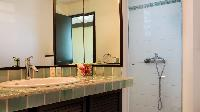 neat and trim bathroom in Saint Barth Villa Panama holiday home, luxury vacation rental