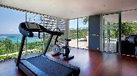 nice gym of Saint Barth Villa Panama holiday home, luxury vacation rental