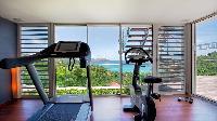 neat gym of Saint Barth Villa Panama holiday home, luxury vacation rental