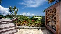 amazing seafront garden of Saint Barth Villa Panama holiday home, luxury vacation rental