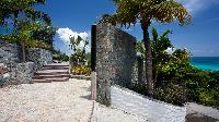 awesome seafront garden of Saint Barth Villa Panama holiday home, luxury vacation rental