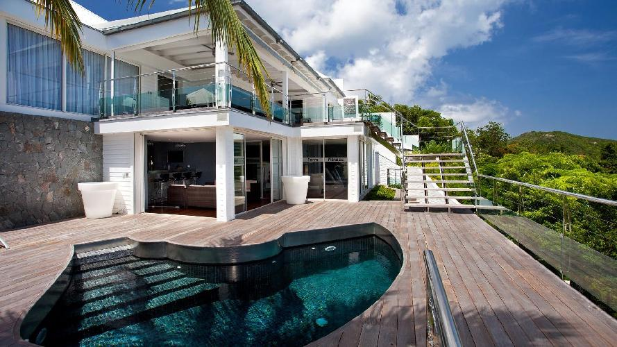 awesome pool of Saint Barth Villa Panama holiday home, luxury vacation rental