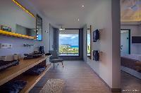cool en-suite bathroom in Saint Barth Villa YOU luxury holiday home, vacation rental