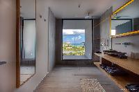 incredible rain shower in Saint Barth Villa YOU luxury holiday home, vacation rental