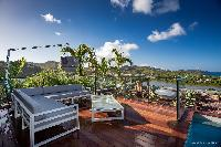cool terrace of Saint Barth Villa YOU luxury holiday home, vacation rental