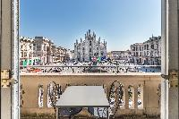awesome balcony of Milan - Duomo Split Level luxury apartment