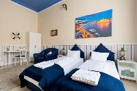 neat and trim beddingi n Budapest Dream Grand Apartment DANUBE luxury holiday home