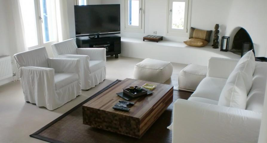 chic Mykonos Villa Rhea luxury holiday home and vacation rental