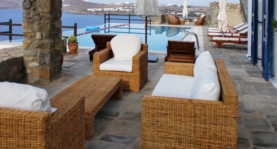 awesome Mykonos Villa Rhea luxury holiday home and vacation rental