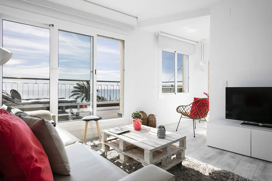 awesome Sitges Passeig de la Ribera - Ocean Front Penthouse luxury apartment