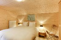 fresh bedroom linens in Champery's Village chalet, luxury apartment, holiday home, vacation rental