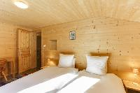 clean bedroom linens in Champery's Village chalet, luxury apartment, holiday home, vacation rental