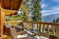cool terrace of Chalet Saint Christophe luxury apartment, holiday home, vacation rental