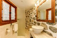 pristine bathroom in Chalet Saint Christophe luxury apartment, holiday home, vacation rental