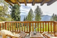 awesome balcony of Chalet Saint Christophe luxury apartment, holiday home, vacation rental