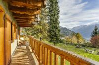 amazing balcony of Chalet Saint Christophe luxury apartment, holiday home, vacation rental