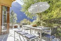 pretty patio of Grand Paradis luxury apartment, holiday home, vacation rental