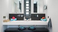 clean bathroom in Saint Barth Villa Starfish luxury holiday home, vacation rental
