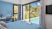 fresh bedroom linens in Saint Barth Villa Starfish luxury holiday home, vacation rental