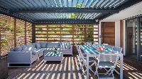 cool veranda of Saint Barth Villa Starfish luxury holiday home, vacation rental