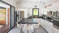 neat kitchen of Saint Barth Villa Starfish luxury holiday home, vacation rental
