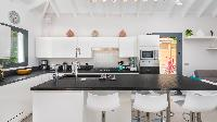 cool breakfast bar of Saint Barth Villa Starfish luxury holiday home, vacation rental