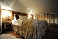 pristine bed sheets in Chalet Grand Sapin luxury apartment, holiday home, vacation rental