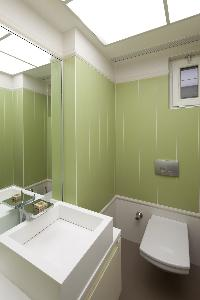 fresh and clean bathroom in Istanbul - Gumussuyu Deluxe Flat with Balcony luxury apartment